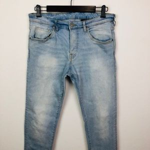 H&M Button Fly Light Wash Skinny Jeans